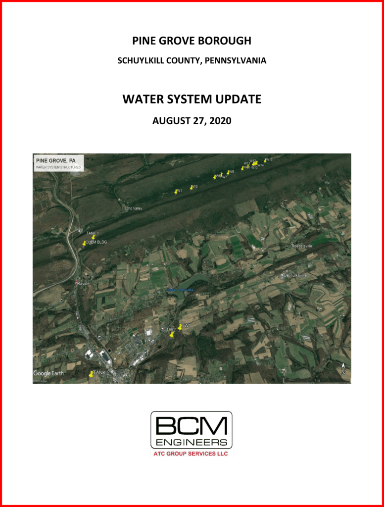 pine grove borough water system upgrade